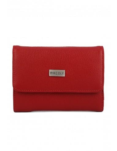 Billetera Mediana A015 Cuero Rojo