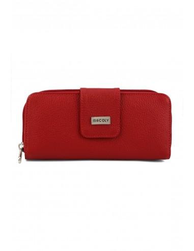 Billetera Grande A011 Cuero Rojo