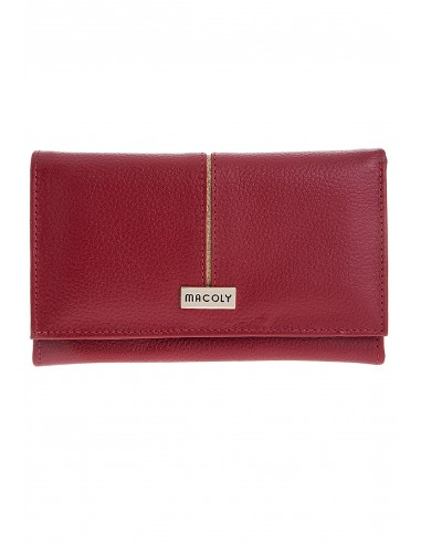 Billetera grande 051 cuero rojo